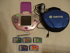 Leap Frog Pink LEAPSTER Multimedia Learning Centre With 5 Games & Case + Adaptor