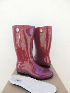 e02da0bd59e Details about UGG TALL GARNET RED SHAYE RUBBER RAIN BOOTS, US 10/ EUR 41 ~  NIB ~ USA MADE