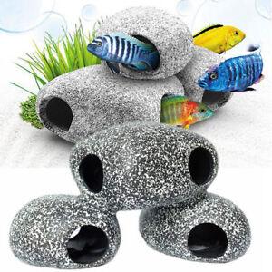 Ceramic-Rock-Cave-Ornament-Stones-For-Fish-Tank-Filtration-Aquarium