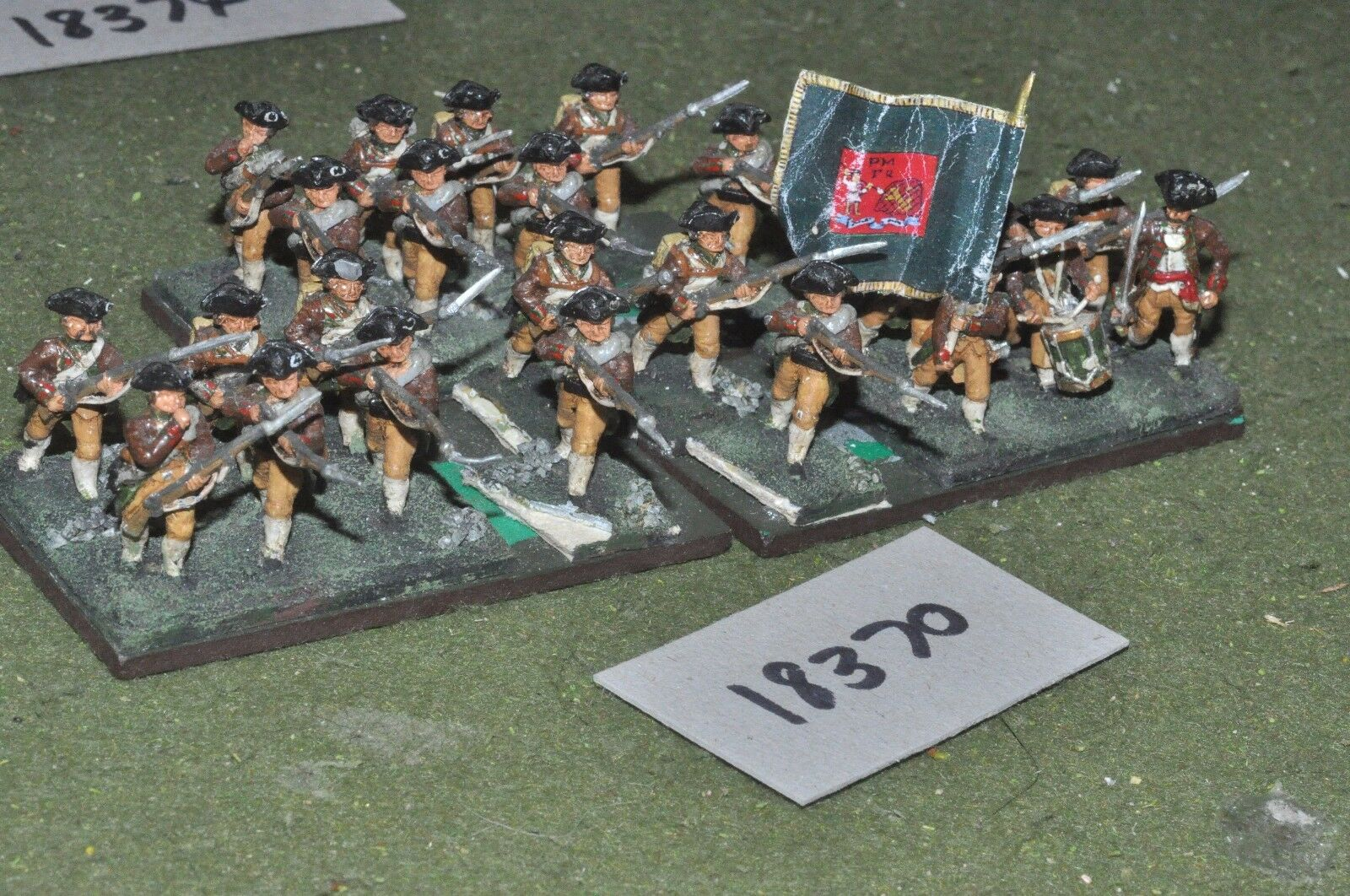 25mm AWI   american - infantry 24 figs - inf (18370)