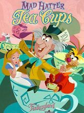 Anaheim California Mad Hatter Tea Cups Disneyland Travel Advertisement Poster