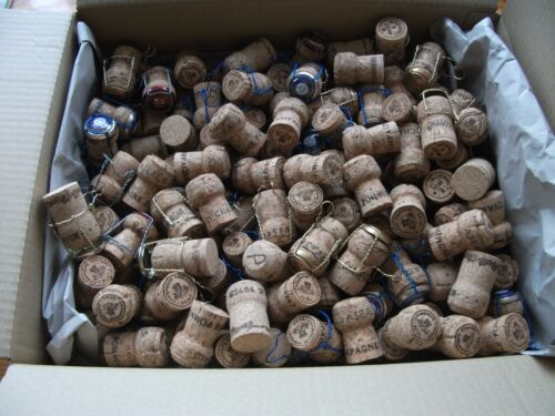 100 Used Champagne Corks Arts//Crafts w// Cages