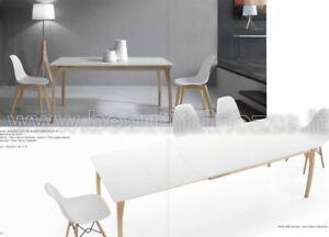 Legno Bianco Frassinato : Tavolo da pranzo allungabile pamalypa legno naturale e bianco