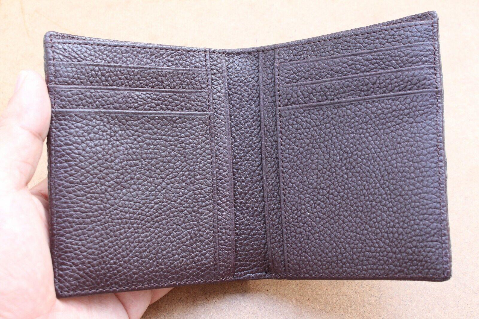 Genuine Alligator Crocodile Leather Skin Men Bifold Wallet Handmade Brown #N70
