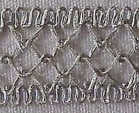 5 Yards. Metallic Ribbon Trim. Silver