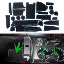 22PCS Blue Silicone Storage Mat Water Cup Slot-Pad for Ford Explorer 2013-15