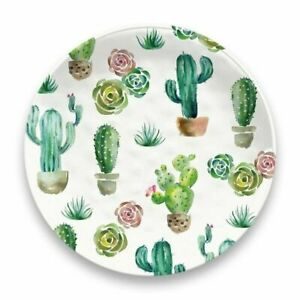 Rio Succulents Cactus Melamine Salad Side Dessert Plates Set of 4 by TarHong