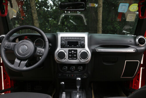 Sliver Center Console Air Condition Panel Cover Trim for Jeep Wrangler JK 11-17