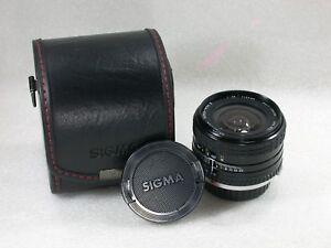 Sigma-Super-Wide-II-24mm-F2-8-Manual-Lens-Case-Olympus-OM-Fit-No-1088685