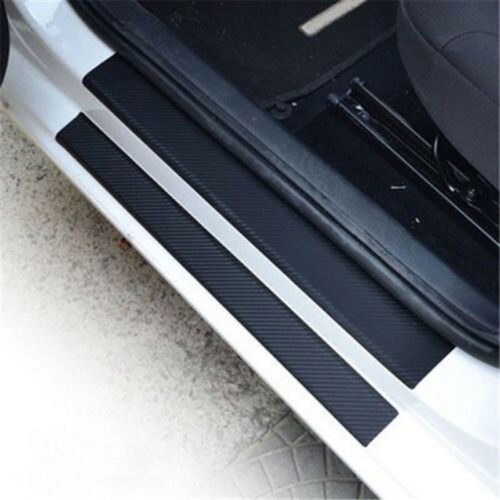 4x Car Door Sill Scuff Carbon Fiber Stickers Welcome Pedal Protect Accessorie OF