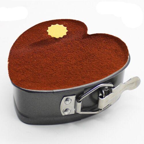 Cake Tin Non Stick Spring Form Loose Base Baking Pan Tray DIY  Heart-Shaped EA7X