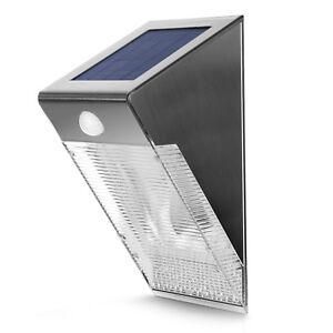 LED Solar Wandleuchte Solarleuchte Aufladbare Bewegungsmelder Solar Wandleuchte