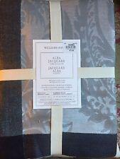 "Williams-Sonoma Alba Charcoal Jacquard Tablecloth 70"" X 126"" $179.95 NEW"