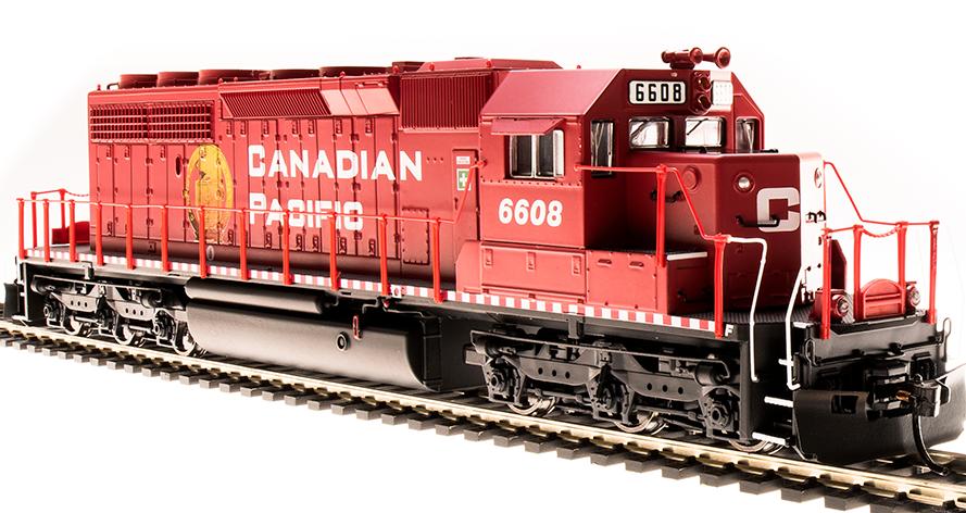Broadway Ltd Paragon3 CANADIAN PACIFIC SD40-2 Low Nose Loco   6608 DCC/Sound NIB