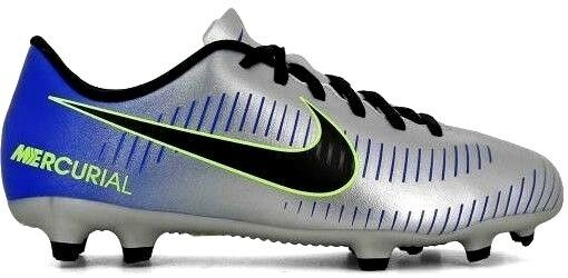 Nike Mercurial Vortex Lll Neymar Junior Terreno Firme Fútbol botas-Fg Plata