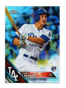 2016-Topps-Chrome-COREY-SEAGER-PRISM-REFRACTOR-ROOKIE-SP-RC-150-LA-Dodgers-WS
