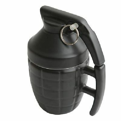 Grenade Coffee Mug Black Porcelain With Lid Coffee Tea Cup By Afterain