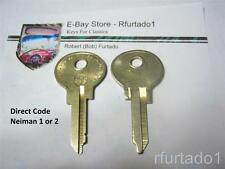 Key Blank for Peugeot & Renault 1965 to 1979 - Simca Alfa Romeo  (RE61XR)
