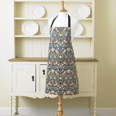 William Morris Blue Strawberry Thief Pvc Oilcloth Long Handle Tote Bag