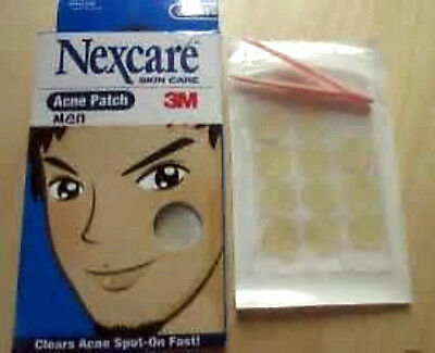 ACNE AND ZIT PLASTERS FROM 3M NEXCARE COVERS &HIDES SPOTS AND PREVENTS BACTERIA