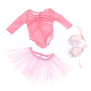 1-juego-de-ropa-de-muneca-de-18-pulgadas-de-America-chica-vestido-de-ballet-rosa