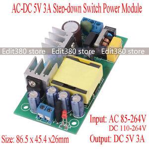 Universal AC/DC Adapter 5 Volt 15 watt Switching Power Supply 5V 3A ...