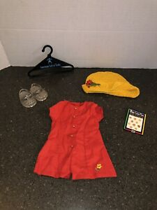 Pleasant-Company-American-Girl-complete-1996-Culotte-Dress-Outfit-Retired
