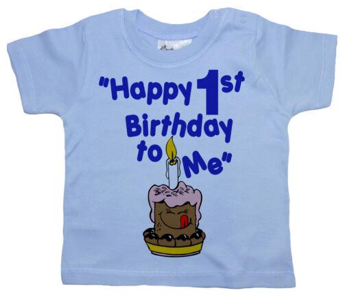 """To Me /"""" Erste 1 Jahr Geschenk Party Kleidung 1 Geburtstag T-Shirt /"""" Froh 1"""