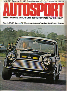 Autosport Oct 16 1968 Tr5 E Type Mgc Xj6 V8 250 Rover P6 Gt6 Mini
