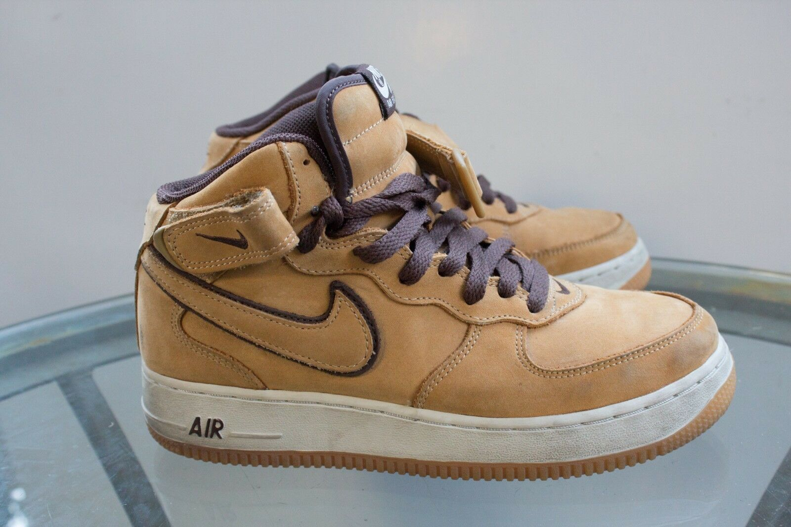 DS 2003 NIKE AIR FORCE 1 MID WP wheat wheat-baroque 307105-771 size 6.5