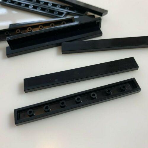 10 NEW LEGO Black 1x8 Tiles 4162//416226 modular finishing
