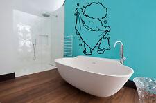 Lovely Kid Boy Bath Shower Sticker Bathroom Toilet Wall Vinyl Home Art Decal DIY