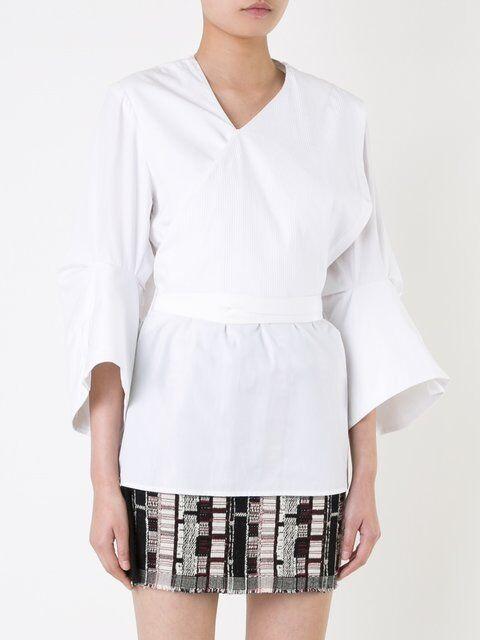 Christopher Esber Tilted Cuff Shirt Weiß 12