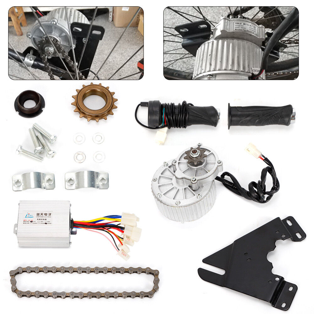 Electric Bike Conversion Kit 24V 36V Left Chain Drive Motor Ebike E-Bicycle TOP