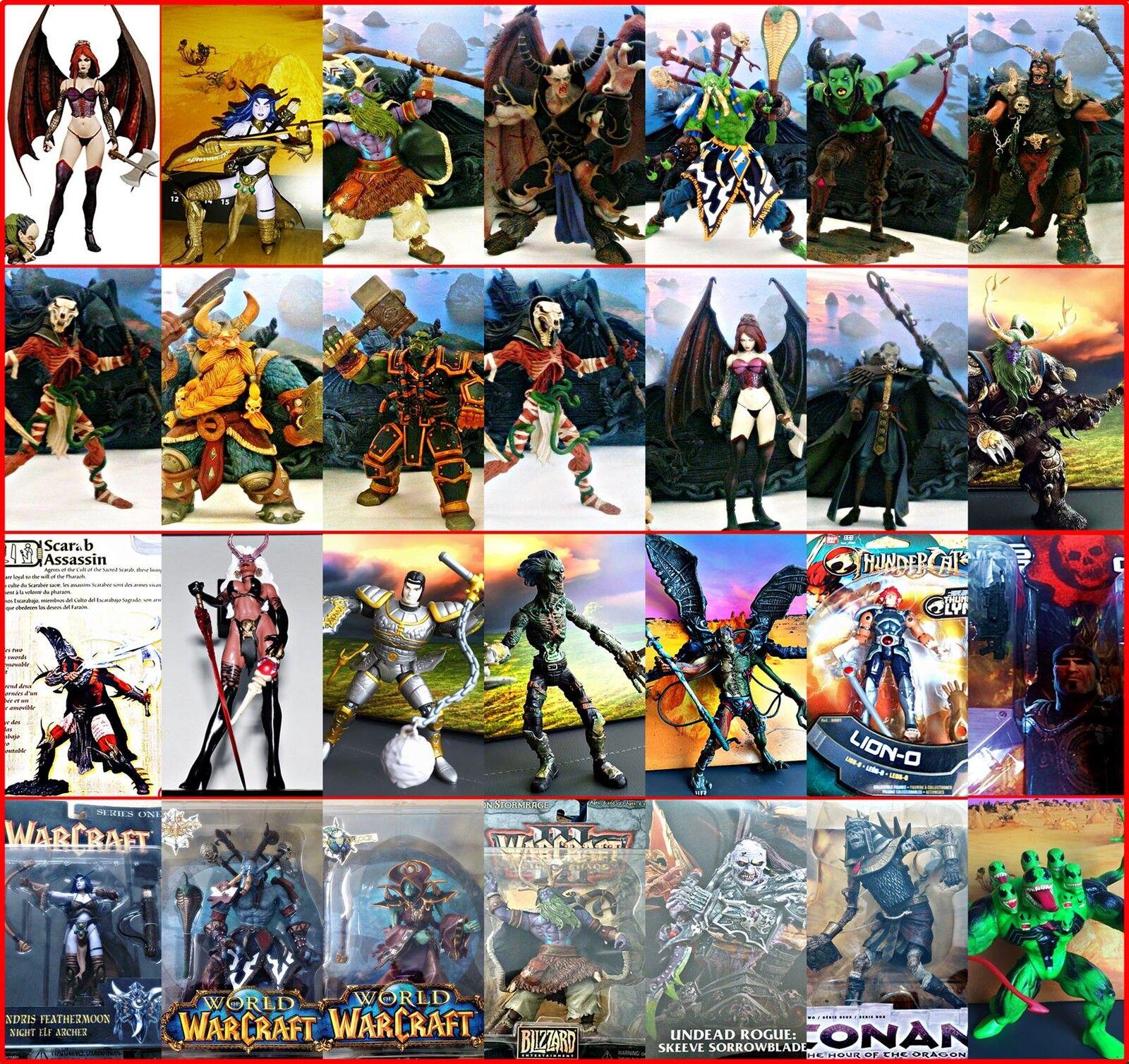 WOW, Diabo ,Castlevania & figurenwahl   Lara Croft, SUCCUBE,Ultima,mcfarlane