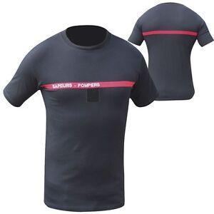 T-Shirt-brode-des-SAPEURS-POMPIERS-Taille-XL-112-100-COTTON