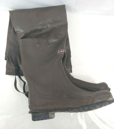 Caddis Caoutchouc Hip Wader Wading Boots Sz 10 pêche bon état Steel Shank