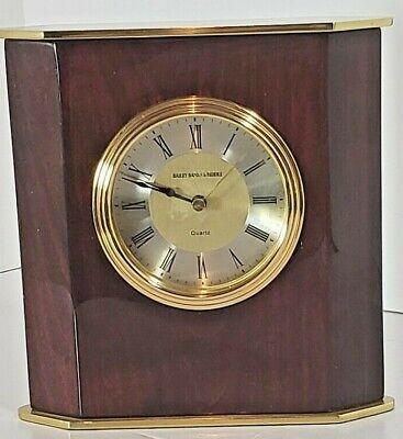 Bailey Banks Biddle Luxury Desk Clock Wood And Brass Working Ebay