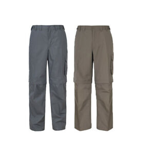 Trespass-Mallik-Mens-Cargo-Trousers-Pants-in-Grey-Green-amp-Brown