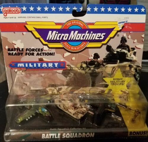 Tank Wart Hog Copter BONUS NIP MICRO MACHINES Battle Squadron #4