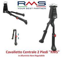 Cavalletto Centrale 2 Piedi Alluminio Nero Regolabile per Bici 26-28 Corsa Vinta