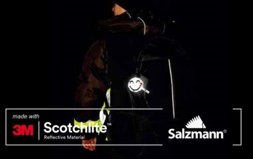Backpack Child Safety UK Salzmann 3M Scotchlite Reflective Hanger Smiley Face