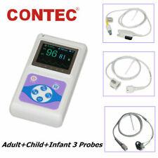 Handheld Finger Spo2 Pulse Oximeteradult Infant Neonatal 3 Probes Cms60d Pc Sw