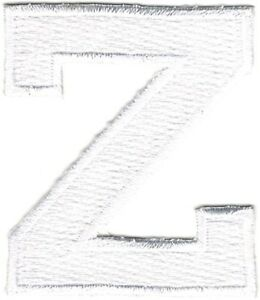 """1 7//8/"""" White Monogram Block letter S Embroidery Patch"""