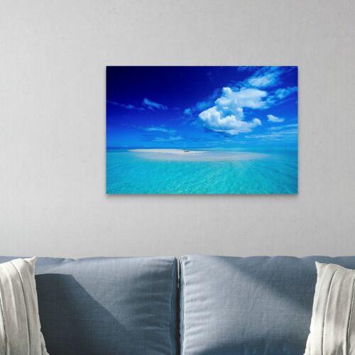 View Of Canvas Wall Art Print Coastal Home Decor Bora Bora French Polynesia