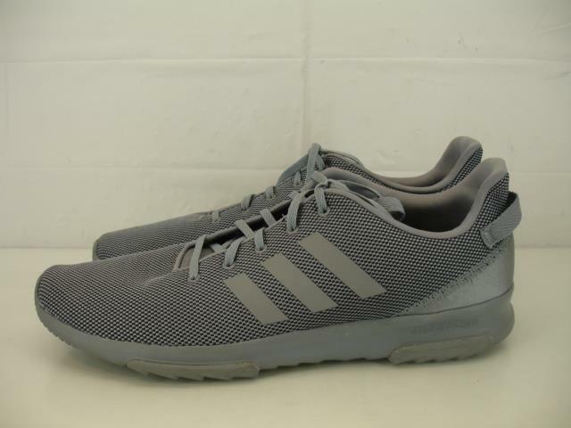 Mens sz 14 Adidas Cloudfoam Racer TR shoes Grey Core Black Running shoes Walking