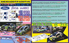 ANEXO DECAL 1/43 FORD FOCUS HIRVONEN & GRONHOLM R.AUSTRALIA 2006 1st  & 5th (01)