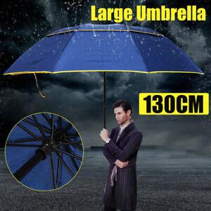 "62/"" LARGE Folding Rain Umbrella Anti-UV Windproof Big Oversized For Women Men"