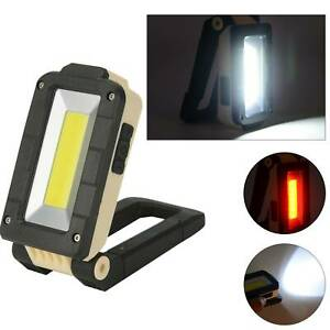 COB LED Magnetic Work Light USB Rechargeable Car Garage Inspection Lamp Torch