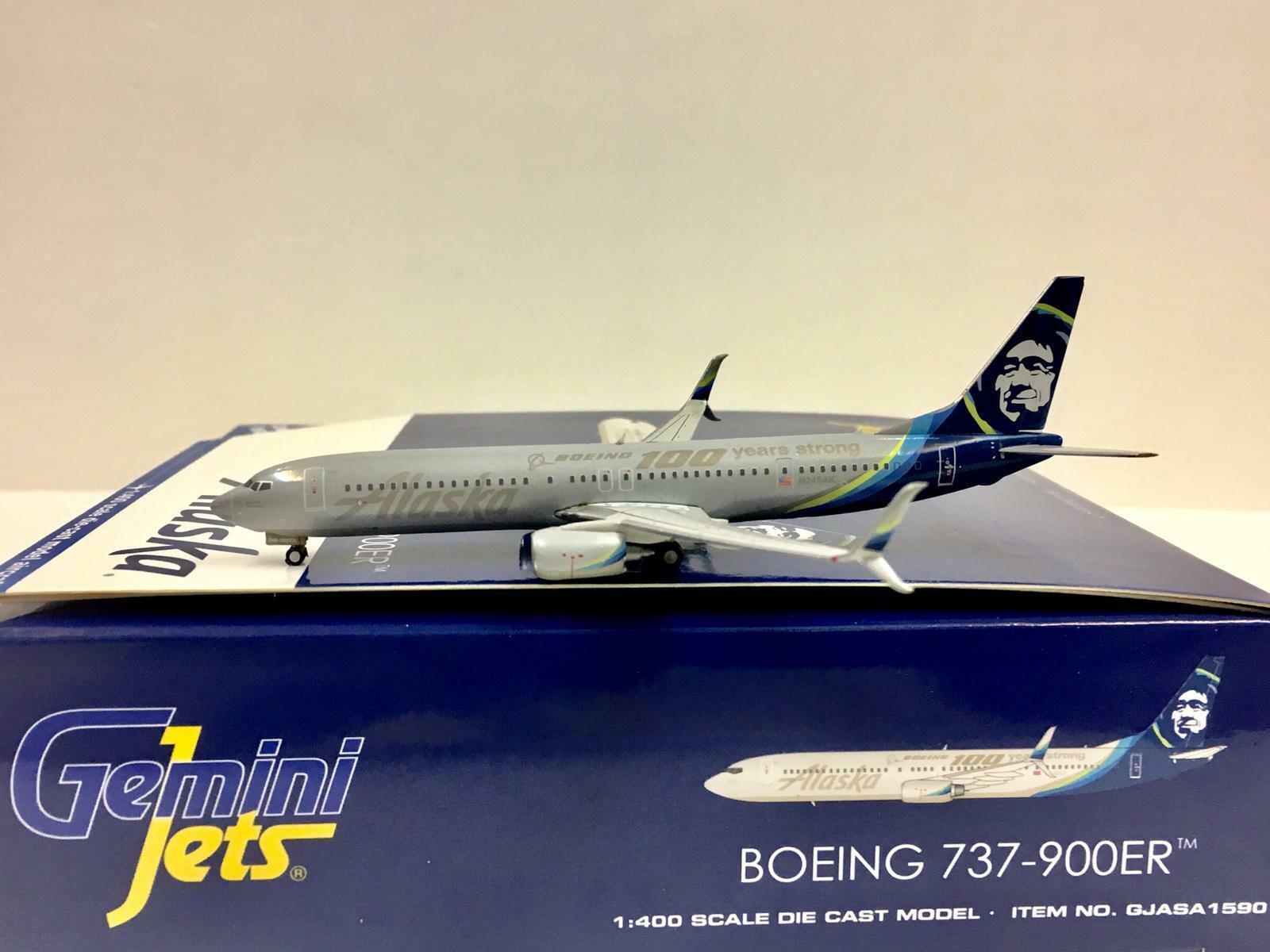 Gemini Jets 1 400 Alsaka Boeing 737-900ER N248AK 100 años fuerte gjasa 1590